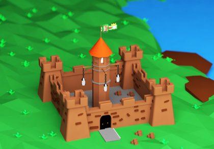 تصویر رندر شده قلعه