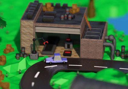 تصویر مدل کارخانه در سینما4دی