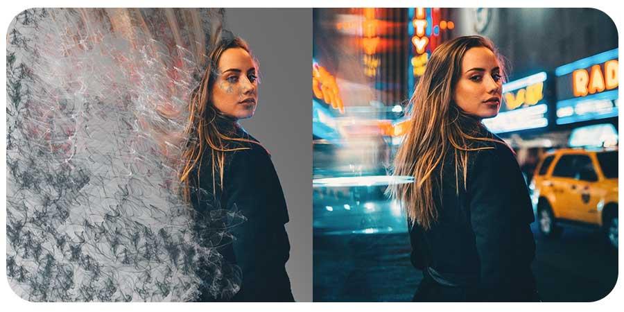 افکت پخش دود رنگی تصویر کاراکتر