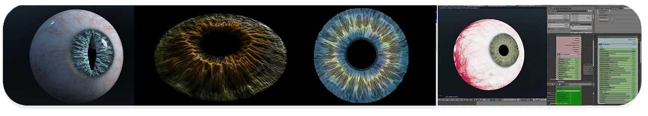 پلاگین Photorealistic eye generator