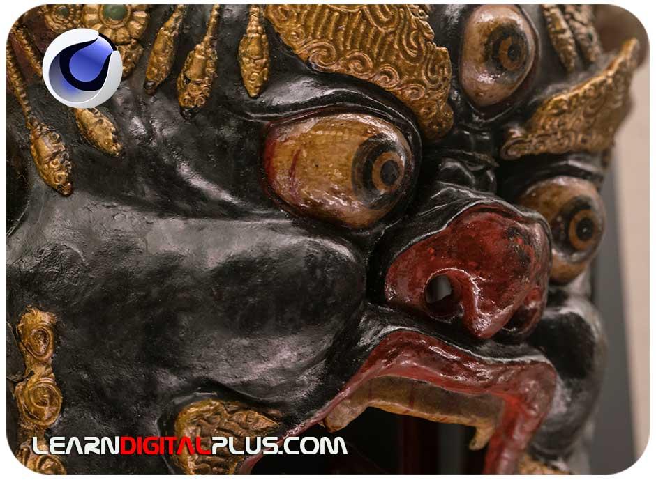 تصویر رفرنس ماسک قبیله