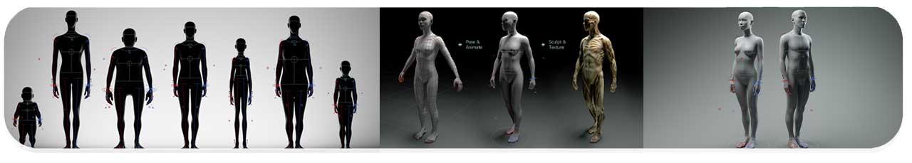 پلاگین Universal Human Body Rig