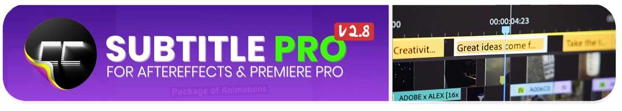 پلاگین Subtitle Pro افترافکت