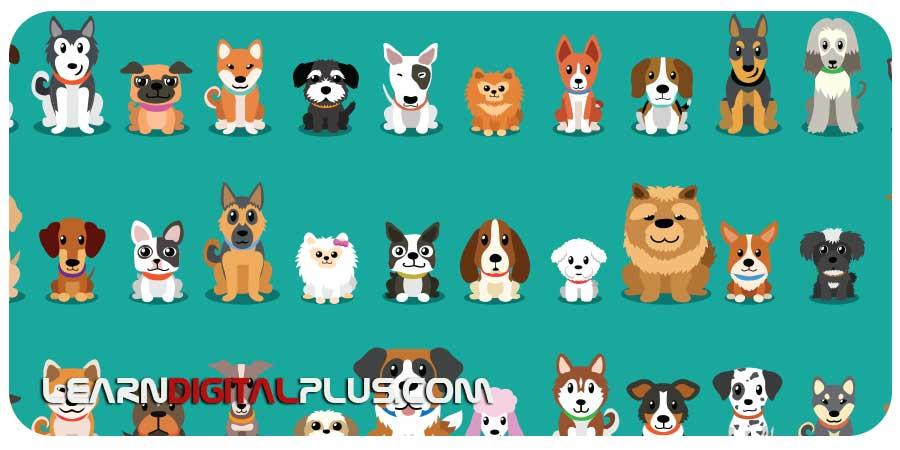 فایل وکتور لایهباز سگ