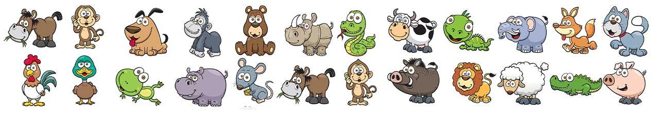 کاراکتر کارتونی حیوانی کودکانه