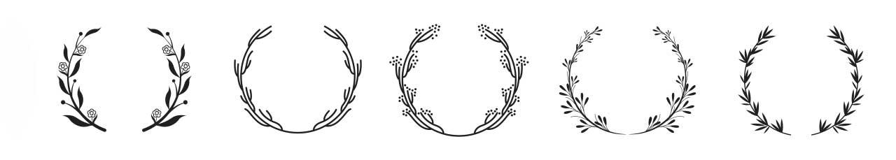 لوگو نیمدایرهای برگ