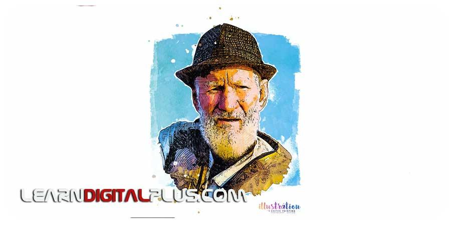 اکشن فتوشاپ افکت نقاشی و طراحی