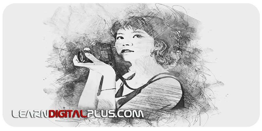 اکشن Portrait Sketch