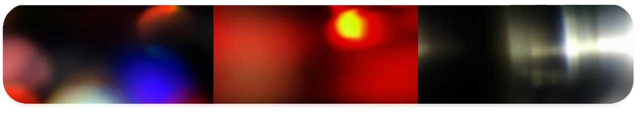 افکت نور های گرم
