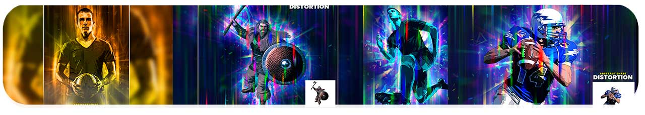 اکشن افکت شکل های انتزاعی رنگارنگ