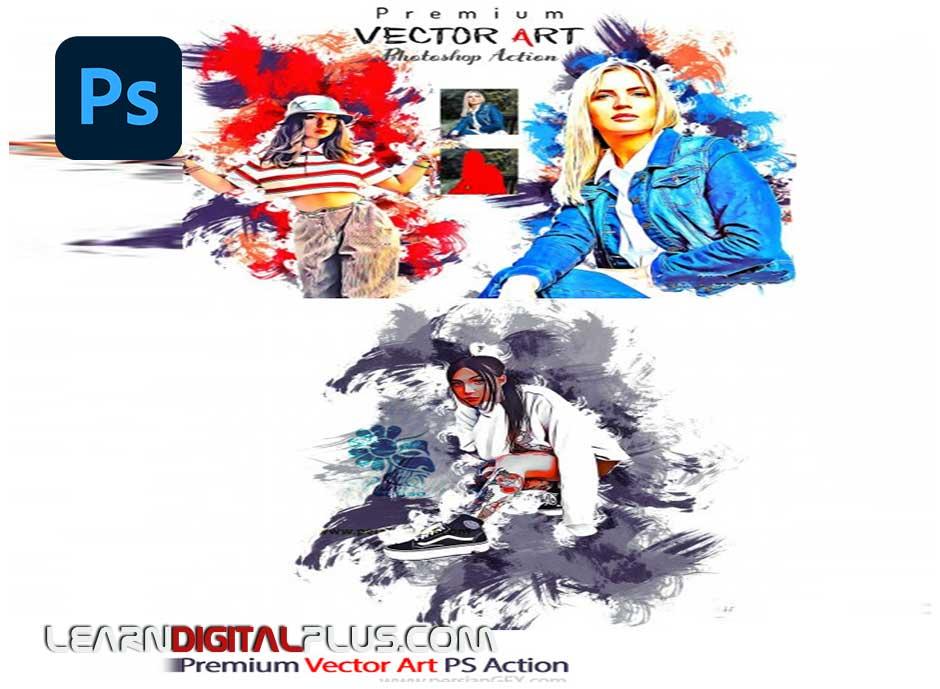 اکشن تبدیل عکس به وکتور هنری