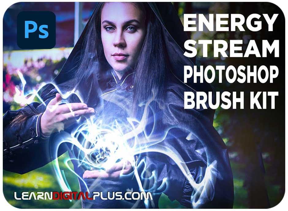 براش فتوشاپ جریان انرژی