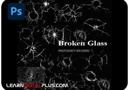 براش شیشه ای شکسته