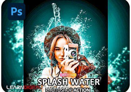 اکشن ایجاد افکت اسپلش آب