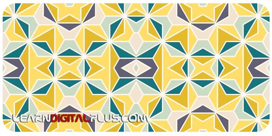 پترن فتوشاپ با طرح های انتزاعی ژئومتریک