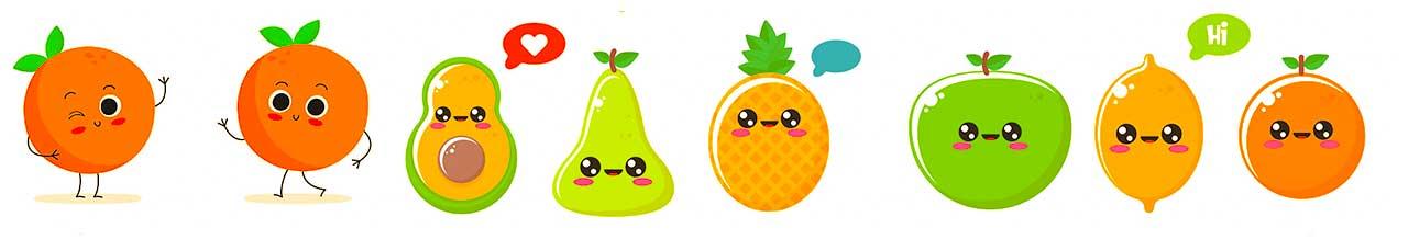کاراکتر میوه ای